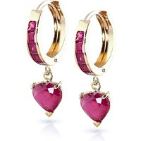 Ruby Huggie Earrings 0.85 ctw in 9ct Gold - Jewellery Gifts