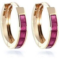 Ruby Huggie Earrings 1.3 ctw in 9ct Gold - Jewellery Gifts