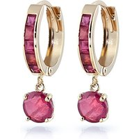 Ruby Huggie Earrings 3.3 ctw in 9ct Gold - Jewellery Gifts