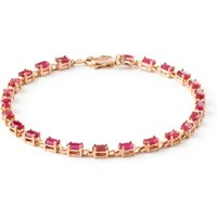 Ruby Infinite Tennis Bracelet 8 ctw in 9ct Rose Gold