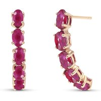 Ruby Linear Stud Earrings 2.5 ctw in 9ct Rose Gold