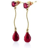Ruby Lure Drop Earrings 7.9 ctw in 9ct Gold - Jewellery Gifts