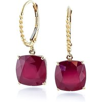 Ruby Rococo Twist Drop Earrings 9.4 ctw in 9ct Gold - Cushion Gifts