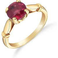Ruby Solitaire Ring 2 ct in 9ct Gold