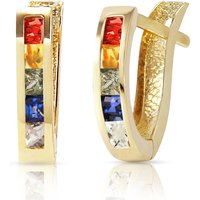Sapphire Acute Huggie Earrings 1.3 ctw in 9ct Gold - Jewellery Gifts