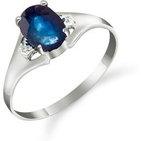 Image of Sapphire & Diamond Desire Ring in Sterling Silver