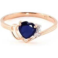Sapphire and Diamond Devotion Ring in 9ct Rose Gold