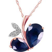 Sapphire & Diamond Eternal Pendant Necklace in 9ct Rose Gold - Fashion Gifts
