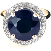 Sapphire and Diamond Halo Ring in 9ct Gold