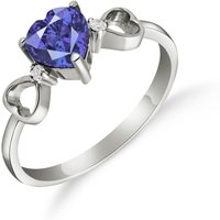 Click to view product details and reviews for Sapphire Diamond Trinity Ring in Sterling Silver.