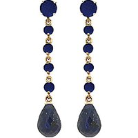Sapphire by the Yard Drop Earrings 31.6 ctw in 9ct Gold - Jewellery Gifts