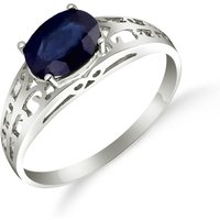 Image of Sapphire Catalan Filigree Ring 1.15 ct in 18ct White Gold