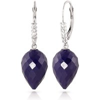 Sapphire Drop Earrings 25.95 ctw in 9ct White Gold