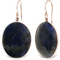 Sapphire Drop Earrings 40 ctw in 9ct Rose Gold
