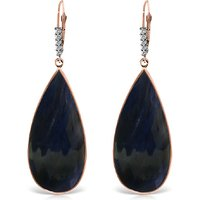 Sapphire Drop Earrings 42.15 ctw in 9ct Rose Gold