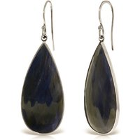 Sapphire Drop Earrings 42 ctw in 9ct White Gold