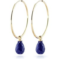 Sapphire Halo Earrings 6.6 ctw in 9ct Gold - Jewellery Gifts