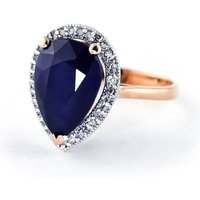 Sapphire Halo Ring 5.26 ctw in 9ct Rose Gold