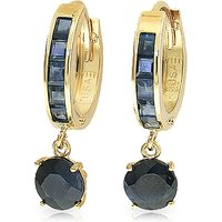Sapphire Huggie Drop Earrings 3.8 ctw in 9ct Gold - Jewellery Gifts