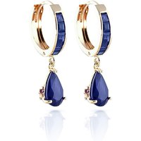 Sapphire Huggie Drop Earrings 4.55 ctw in 9ct Gold - Jewellery Gifts