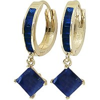 Sapphire Huggie Hoop Earrings 1.3 ctw in 9ct Gold