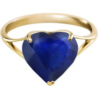 Sapphire Large Heart Ring 4.3 ct in 9ct Gold