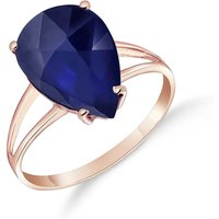 Sapphire Pear Drop Ring 4.65 ct in 9ct Rose Gold