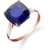 Sapphire Rococo Ring 4.83 ct in 9ct Rose Gold