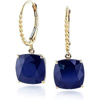 Sapphire Rococo Twist Drop Earrings 9.66 ctw in 9ct Gold - Cushion Gifts