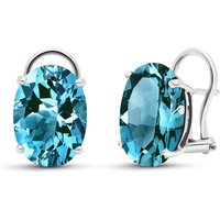 Sapphire Stud Earrings 17 ctw in 9ct White Gold