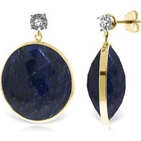Image of Sapphire Stud Earrings 46.06 ctw in 9ct Gold