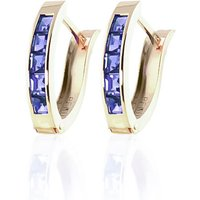 Tanzanite Acute Huggie Earrings 0.95 Ctw In 9ct Gold