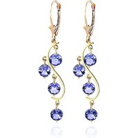 Tanzanite Dream Catcher Drop Earrings 4 ctw in 9ct Gold - Jewellery Gifts