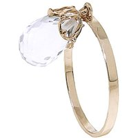 White Topaz Crown Ring 3 ct in 9ct Gold
