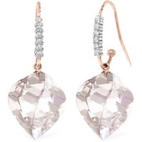 Image of White Topaz Drop Earrings 25.78 ctw in 9ct Rose Gold