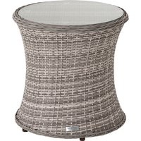 Rattan Garden Tall Round Side Table in Grey - Rattan Direct