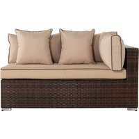 Left As You Sit Rattan Garden Sofa in Brown - Monaco - Rattan Direct