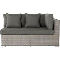 Rattan Garden Day Bed Sofa Left As You Sit in Grey - Monaco - Rattan Direct