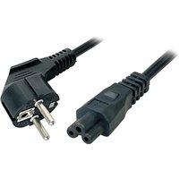 Schuko Abgewinkelt zu IEC320-C5 Netzkabel 3 Meter - Schwarz