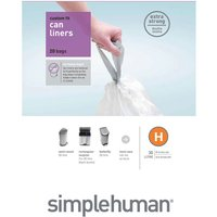 Simplehuman Custom Fit 30L Size H Bin Liners - Pack of 20