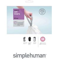 Simplehuman Custom Fit 40L Size M Bin Liners - Pack of 20