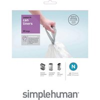 Simplehuman Custom Fit 45L Size N Bin Liners - Pack of 20