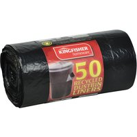 Kingfisher Large Heavy Duty Bin Bags - 50 Pack