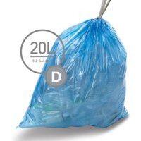 Simplehuman 20L Size D Bin Liners - Pack of 20