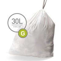 Simplehuman Custom Fit 30L Size G Bin Liners - Pack of 20