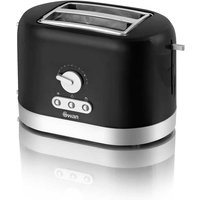 Buy Swan 2 Slice Toaster - Matte Black - Robert Dyas