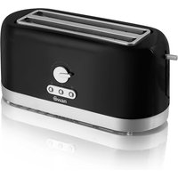 Buy Swan 4 Slice Long Slot Toaster - Black - Robert Dyas