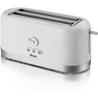 Buy Swan 4 Slice Long Slot Toaster - White - Robert Dyas
