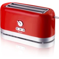 Buy Swan 4 Slice Long Slot Toaster - Red - Robert Dyas