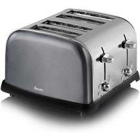 Buy Swan 4 Slice Toaster Metallic - Graphite - Robert Dyas